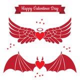 Iconos planos del día de tarjetas del día de San Valentín Foto de archivo libre de regalías