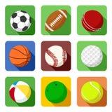 Iconos planos del deporte ilustración del vector