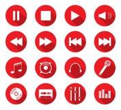 Iconos planos del diseño Fotografía de archivo libre de regalías