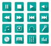 Iconos planos del diseño Fotografía de archivo