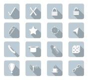Iconos planos del diseño Fotos de archivo libres de regalías