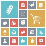 Iconos planos del diseño para el negocio y las finanzas Imágenes de archivo libres de regalías