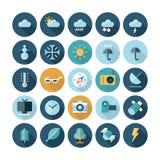 Iconos planos del diseño para la interfaz de usuario Fotografía de archivo libre de regalías