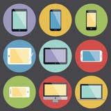 Iconos planos del dispositivo del diseño