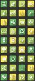 Iconos planos del eco Imagen de archivo libre de regalías