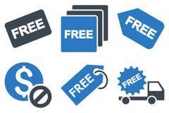 Iconos planos del Glyph de la etiqueta libre Imagenes de archivo