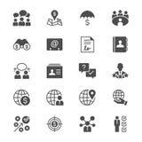 Iconos planos del negocio stock de ilustración
