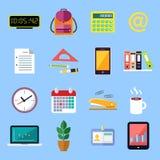 Iconos planos del negocio fijados Fotos de archivo