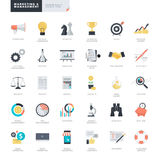 Iconos planos del negocio y del márketing del diseño para el gráfico y los diseñadores web stock de ilustración