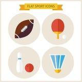 Iconos planos del sitio web del deporte fijados Fotos de archivo libres de regalías