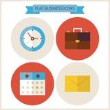 Iconos planos del sitio web del negocio fijados Foto de archivo