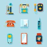 Iconos planos del teléfono libre illustration