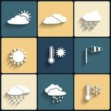 Iconos planos del tiempo del estilo del diseño del vector fijados libre illustration