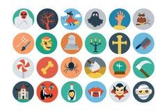 Iconos planos 2 del vector de Halloween Fotografía de archivo libre de regalías