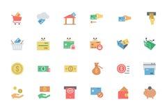Iconos planos 3 del vector del pago de la tarjeta Imágenes de archivo libres de regalías