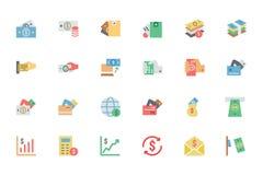 Iconos planos 4 del vector del pago de la tarjeta Fotos de archivo libres de regalías
