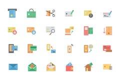 Iconos planos 2 del vector del pago de la tarjeta Fotografía de archivo libre de regalías