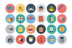 Iconos planos 5 del vector del viaje y del turismo Imagen de archivo libre de regalías