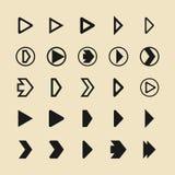 Iconos planos del vector del juego de la flecha stock de ilustración