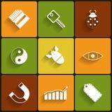 Iconos planos del vector universal Fotos de archivo libres de regalías