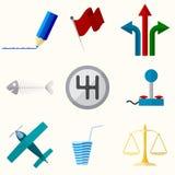 Iconos planos del vector universal Fotos de archivo