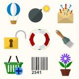 Iconos planos del vector universal Imágenes de archivo libres de regalías