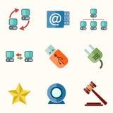 Iconos planos del vector universal Foto de archivo libre de regalías