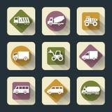Iconos planos del viaje Imagenes de archivo