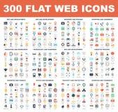 Iconos planos del web stock de ilustración