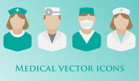 Iconos planos dentales del vector libre illustration