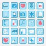 Iconos planos dentales del vector Foto de archivo libre de regalías