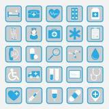 Iconos planos dentales del vector Imágenes de archivo libres de regalías