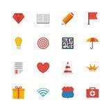 Iconos planos determinados del vector Fotos de archivo