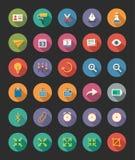 Iconos planos diversos Imagenes de archivo