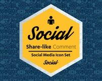 Iconos planos en una forma de la burbuja del discurso: tecnología, medio social, red, concepto del ordenador del vínculo Grupo ab libre illustration