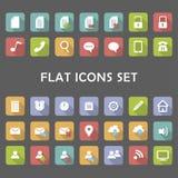 Iconos planos fijados Foto de archivo libre de regalías
