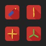Iconos planos fijados de piezas de los abejones Foto de archivo libre de regalías