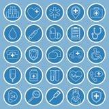 Iconos planos médicos Imagen de archivo