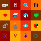 Iconos planos minimalistas 01 Imágenes de archivo libres de regalías