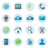 Iconos planos para el ejemplo del vector de los iconos del web y de los iconos de Internet Foto de archivo