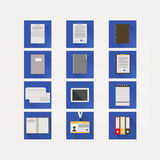 Iconos planos para el negocio Imagen de archivo