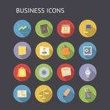 Iconos planos para el negocio y las finanzas Imagen de archivo libre de regalías