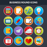 Iconos planos para el Web y el App móvil Imagen de archivo