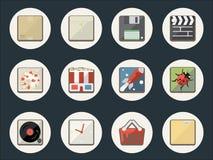 Iconos planos para el Web y el móvil ilustración del vector