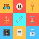 Iconos planos para la organización de externalizado Imagen de archivo libre de regalías