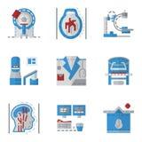 Iconos planos simples del color para MRI Imagenes de archivo