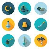 Iconos planos Turquía Fotografía de archivo