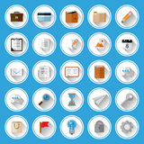 Iconos planos y pictogramas fijados Foto de archivo libre de regalías