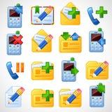 Iconos postales. Set2 Fotos de archivo libres de regalías