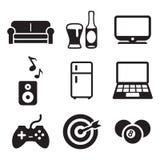 Iconos preferidos de las actividades del hombre Imagen de archivo libre de regalías